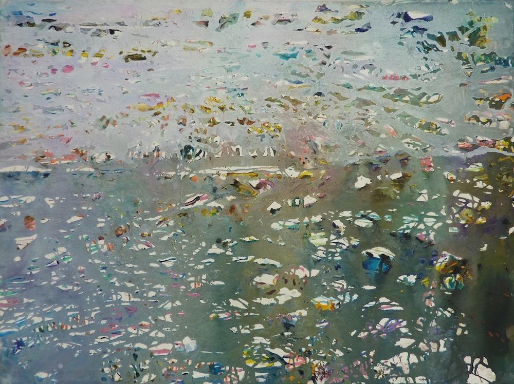 Luke Elwes, Watermark 2014, mixed media on paper, 57x76cm