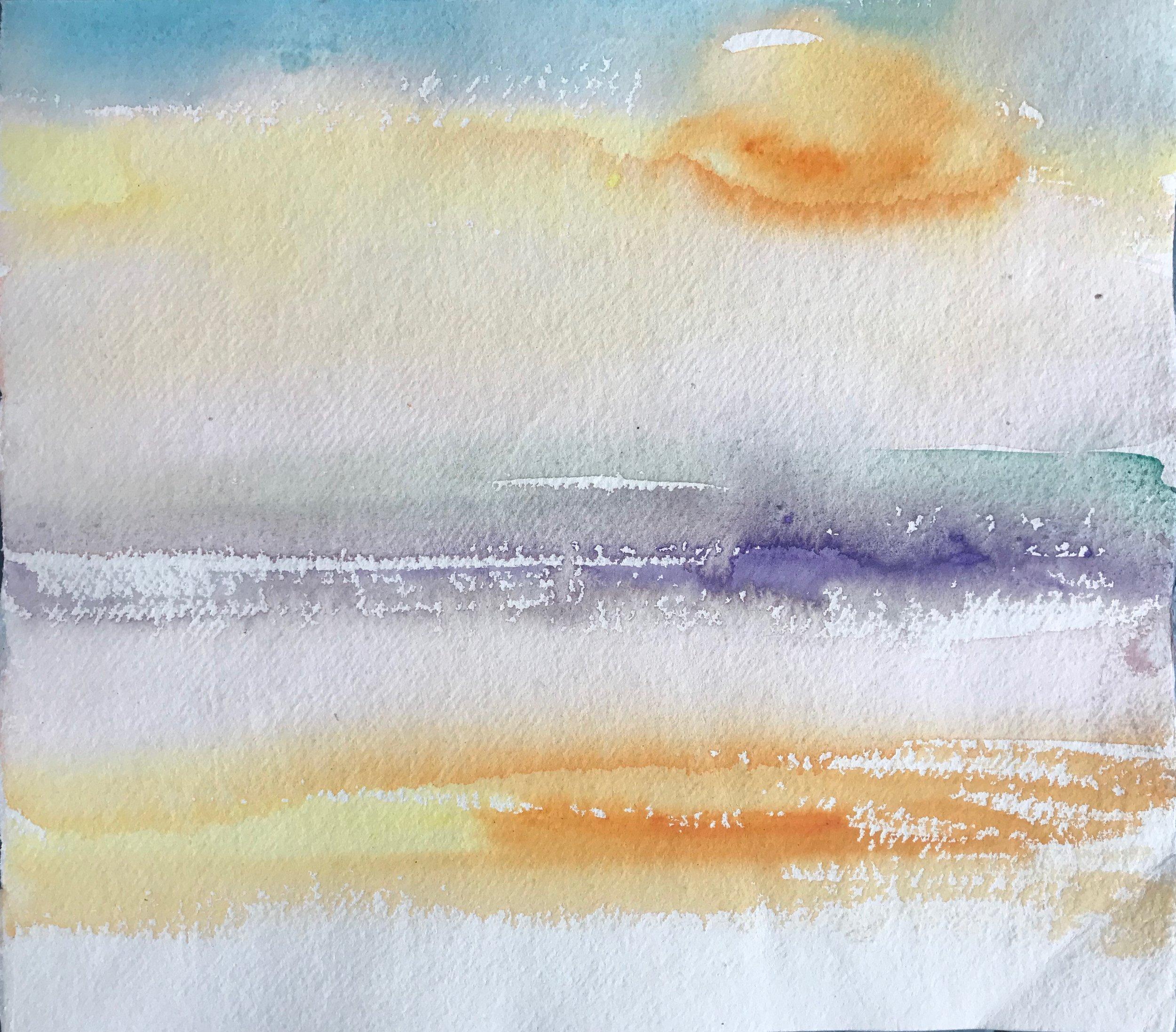 Sunrise study 5 (Ganges),30x34cm.jpeg