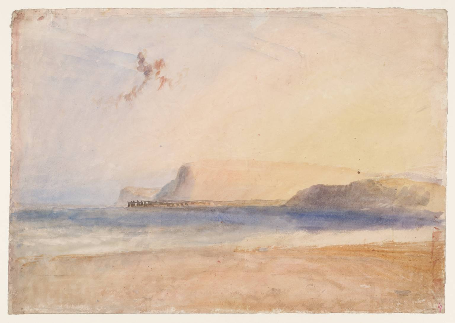 JMW Turner: watercolour study Dorset (date unknown)