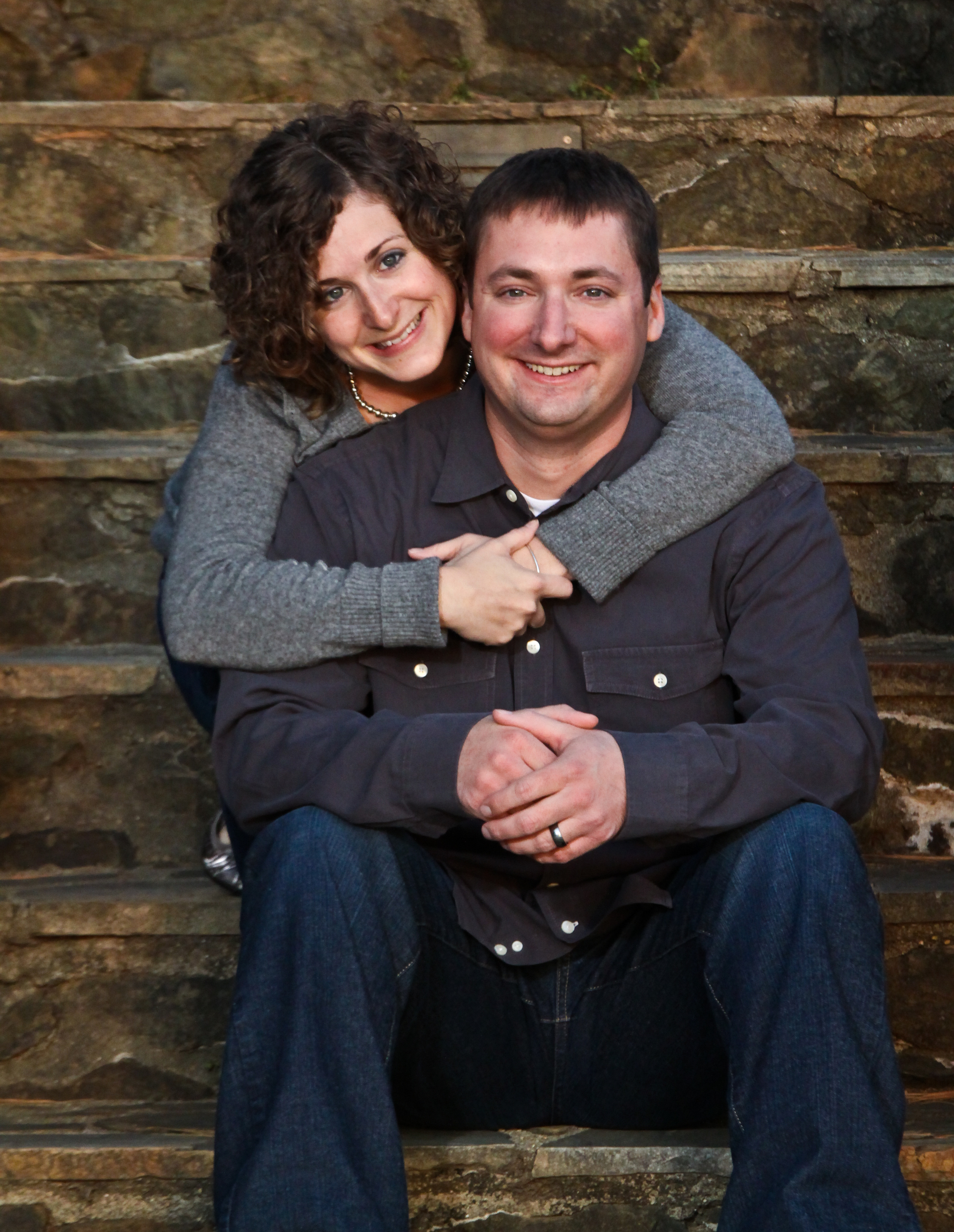 Amy and her husband, Travis. Taken by Josh Hart, Live Green Imagining, 2012.