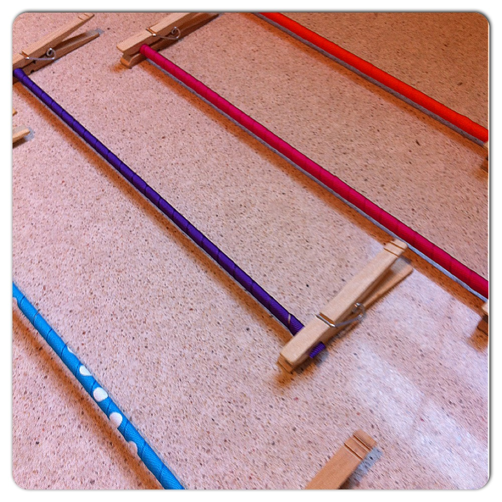 Wrapped Dowel Rods