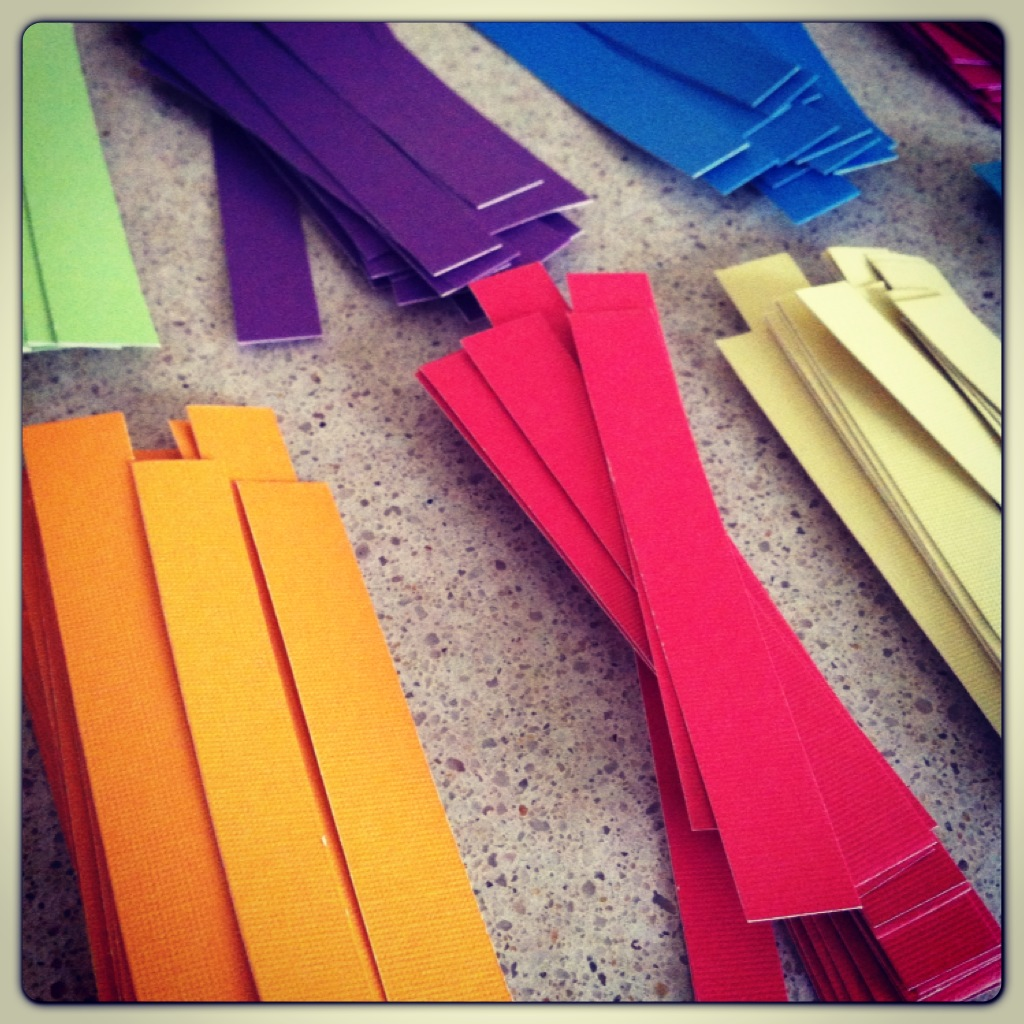Mini-paper strips