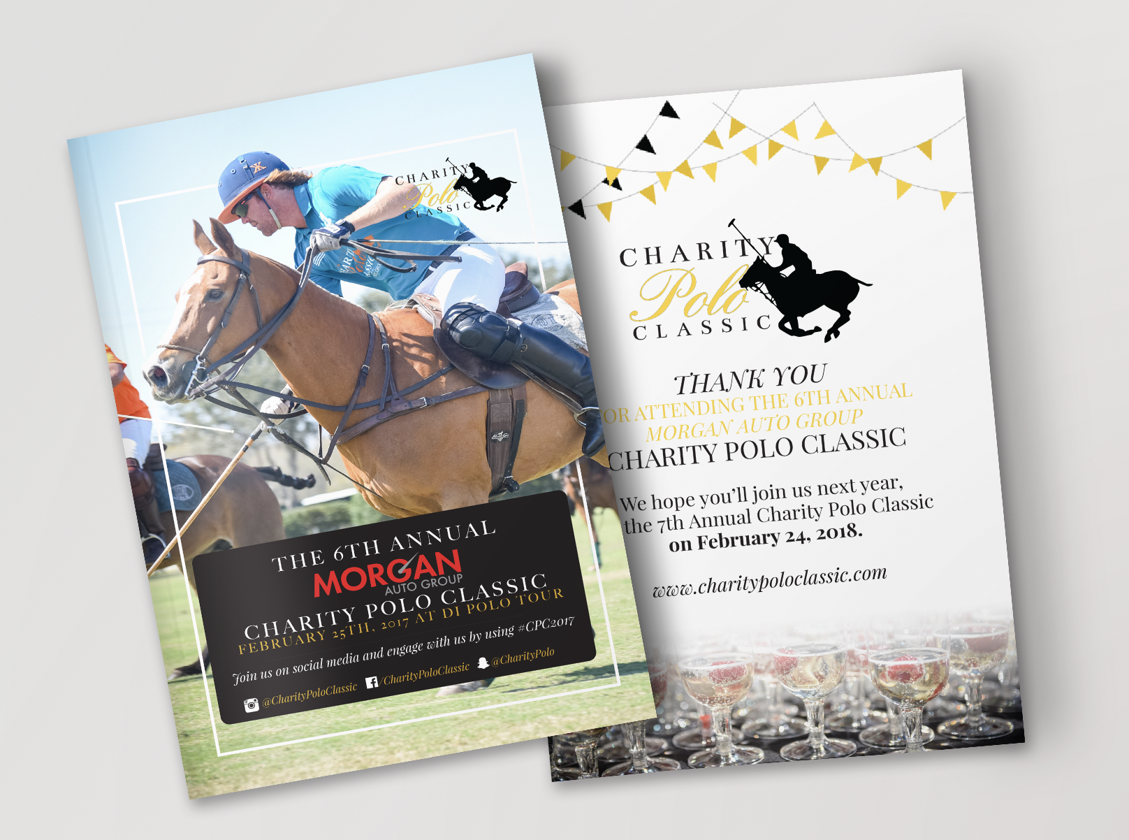 Front And Back of Charity Polo Classic's Program Guide
