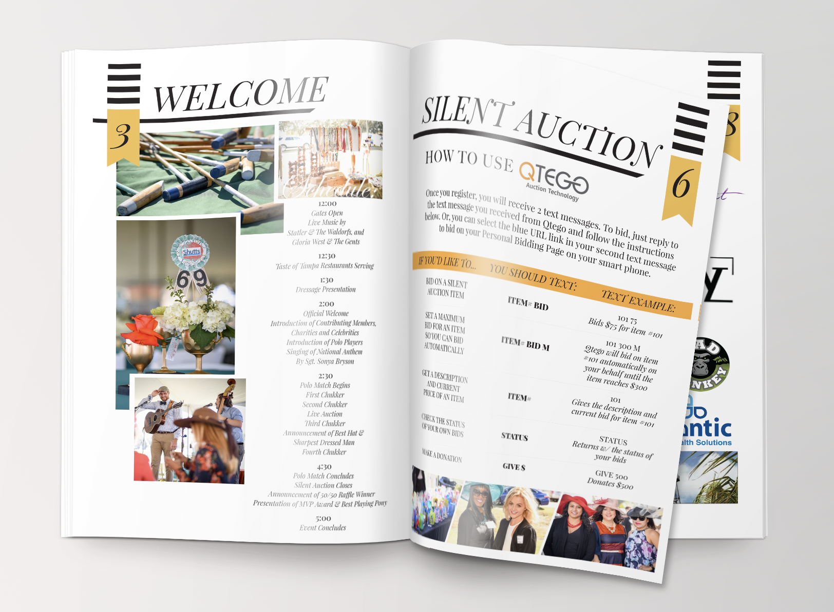The Inside of Charity Polo Classic's Program Guide