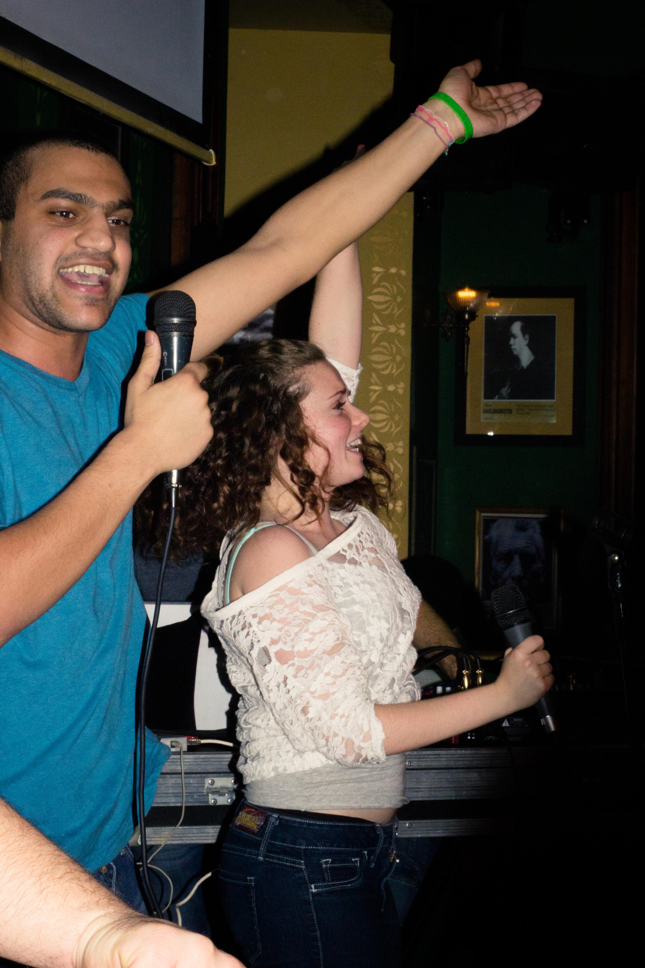 Emily Wilson Photography Scholar's Lounge Rome Karaoke night