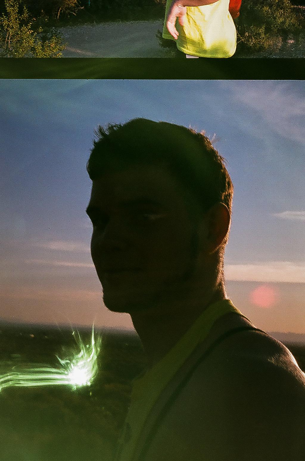Film light leak multiple exposure