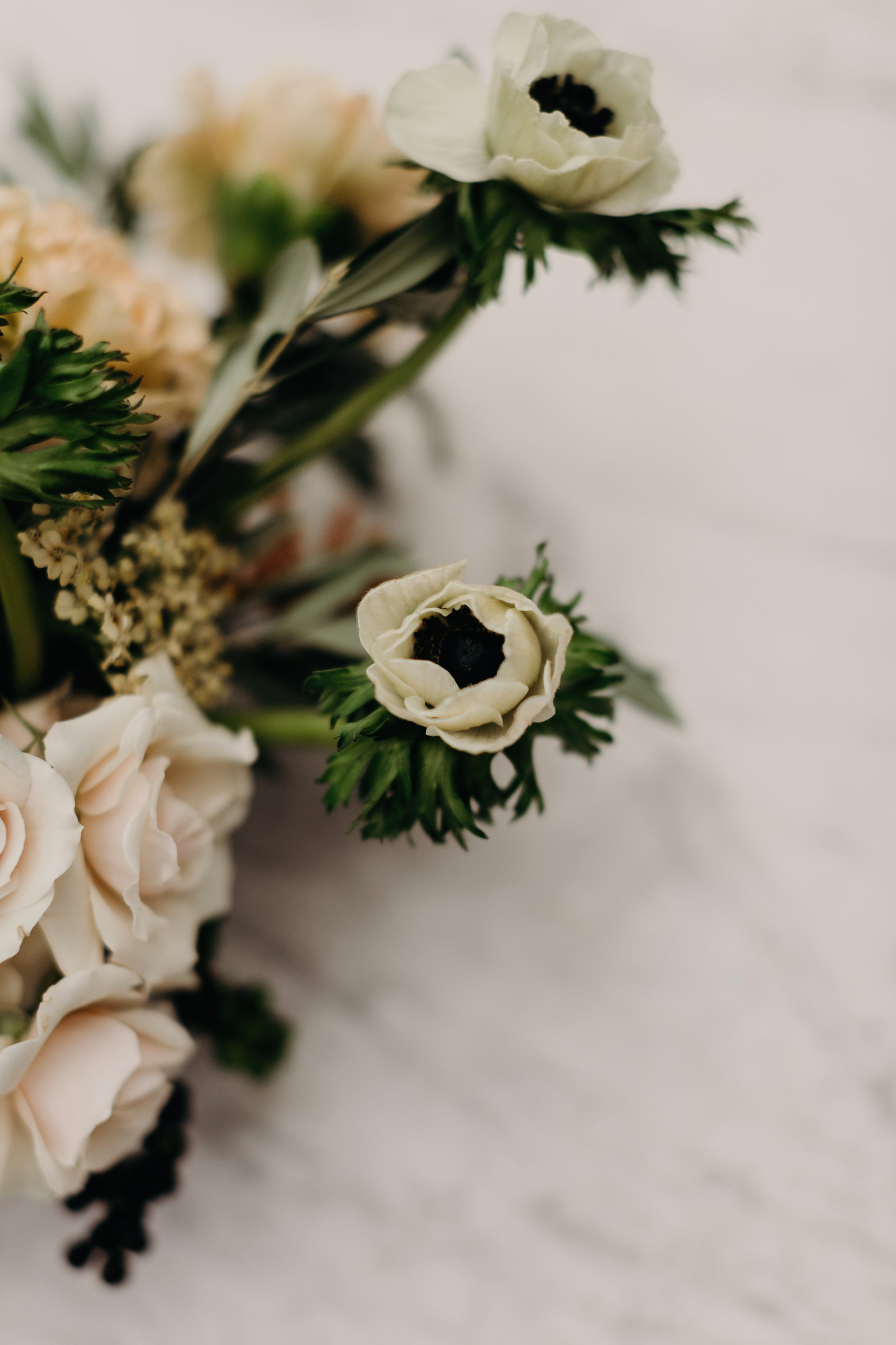 wedding flowers Intimate Wedding at Hotel Saint Cecilla | Gloria Goode photography