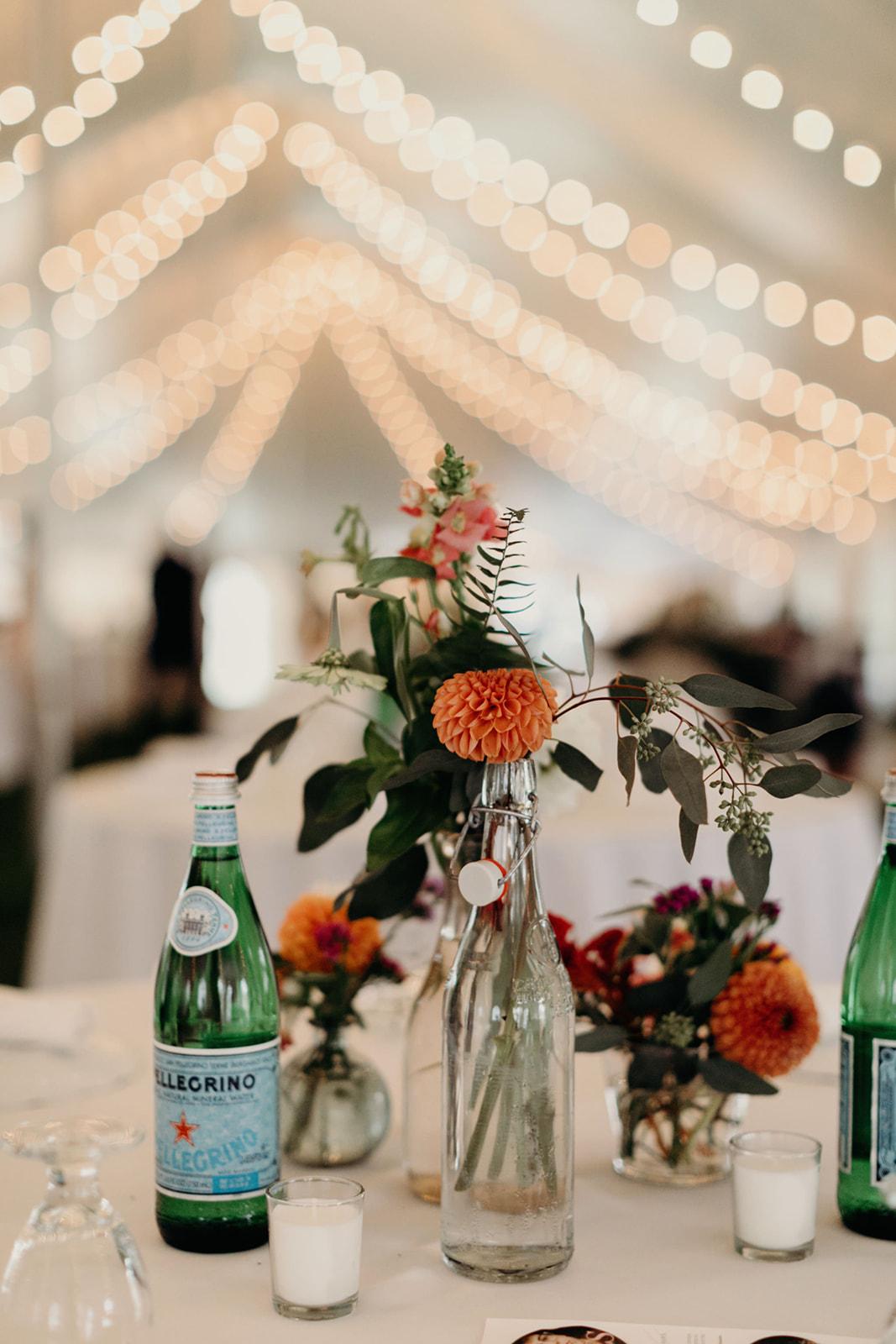 Wedding table details reception