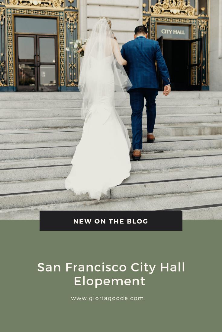 San Francisco City Hall Elopement by Gloria Goode