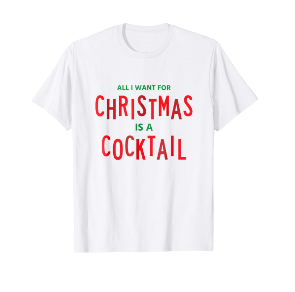 christmas cocktails TEE  $14.99