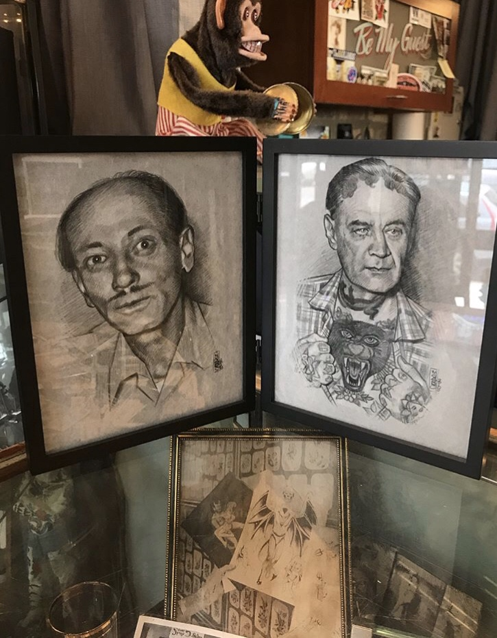 Tatts Thomas and Ralph Johnstone portraits by Jason Minauro