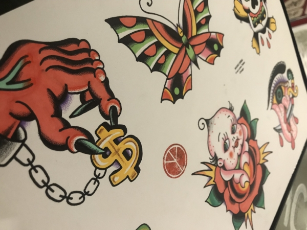 American traditional tattoo flash Mario Desa