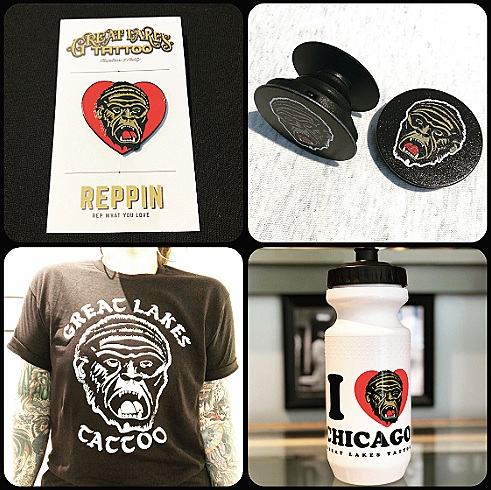 We've added a ton of new cool merch this month! I heart Chicagorilla enamel pins - Chicagorilla popsockets - limited edition distressed Chicagorilla tees - I heart Chicagorilla sports bottles - in addition to our other shirts, prints, etc. All merch is available in the shop or through our   web- store   !