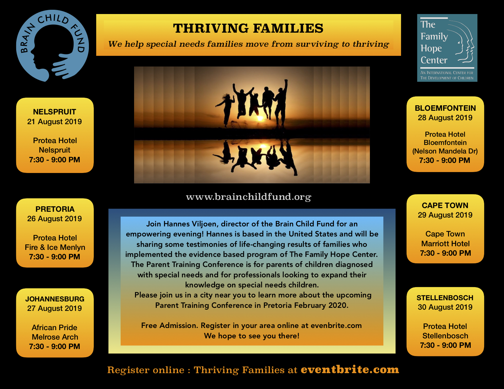 BCF 2019 Thriving Families Tour August National Flyer