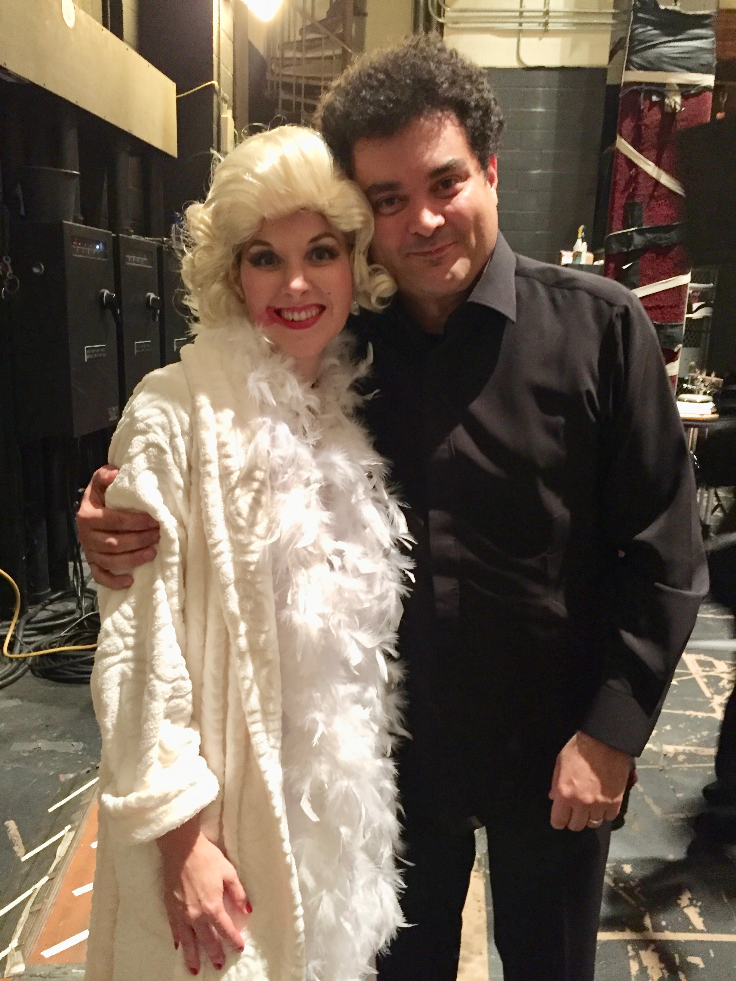 "With Eduardo Leandro after performing Ligeti's ""The Mysteries of the Macabre,"" October 2016."