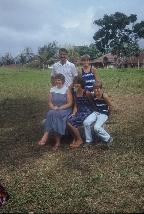 Liberia 1987 Pictured with their 3 children, Lesley, Andy and Adam