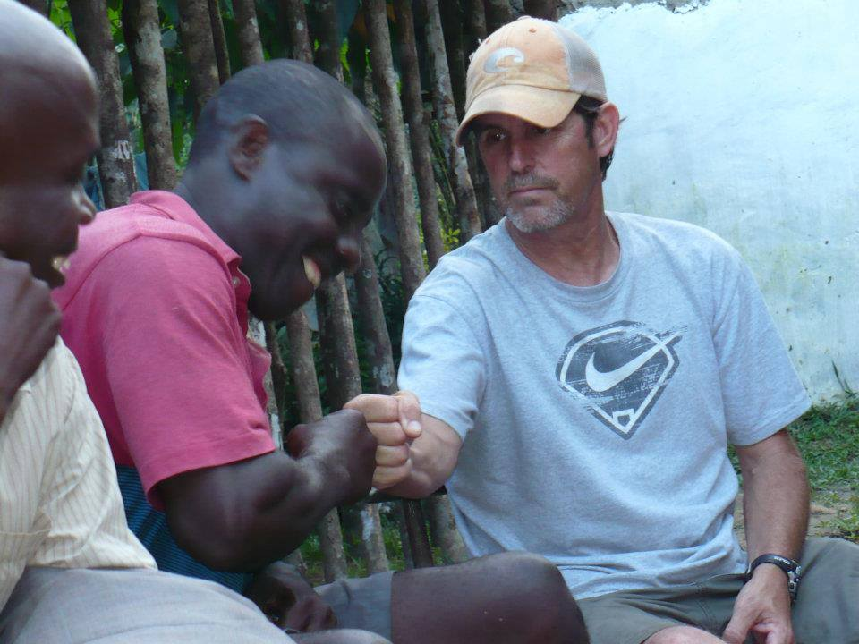 This might not be the Liberian handshake but clearly George is amused!