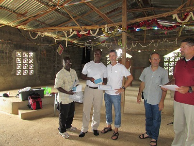 Solomon Johnny pictured second from the left with Equip2serve team