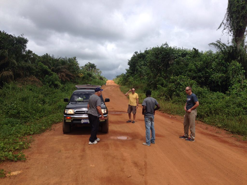 Beautiful scenery as the guys travelled into Liberia down the coast