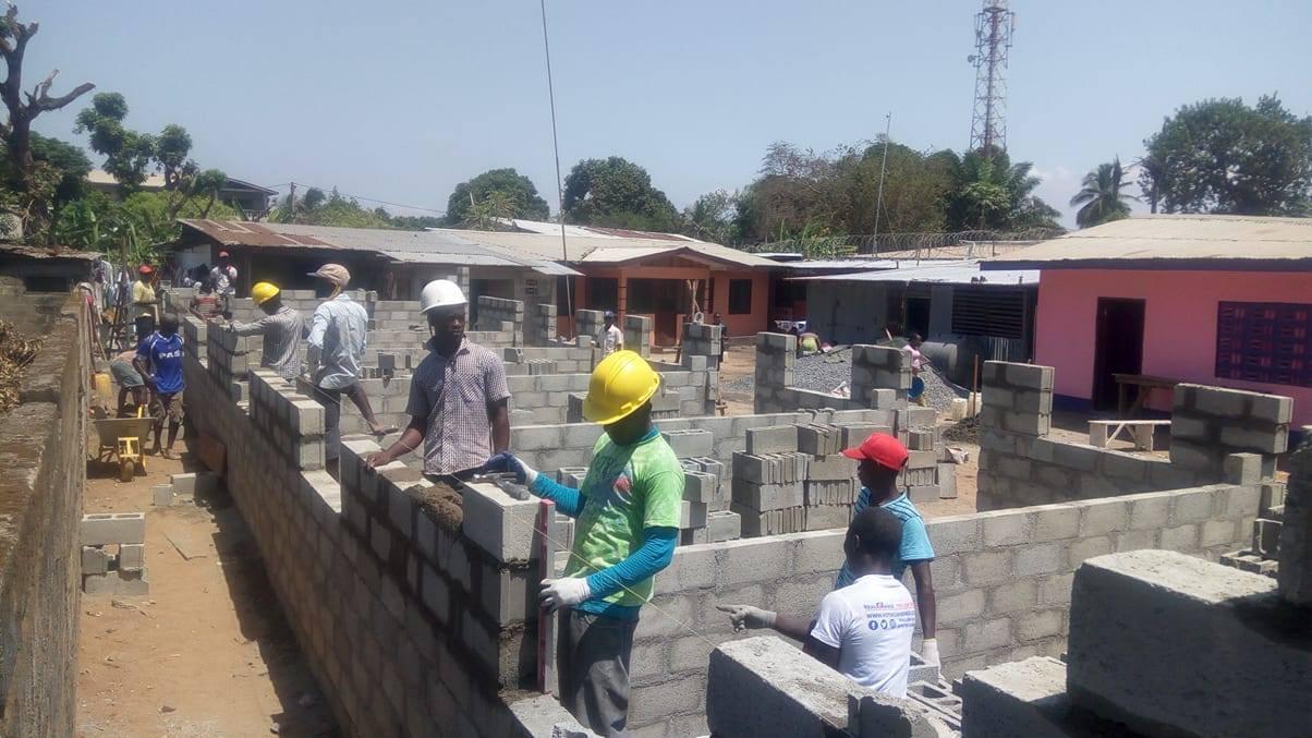 Cement brick walls
