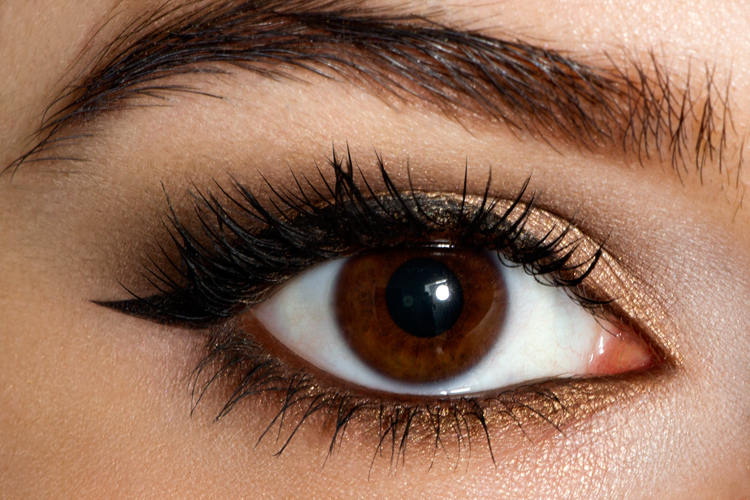 Voila! Apply a few individual lashes to the upper lashline and you have a glamorous party look!