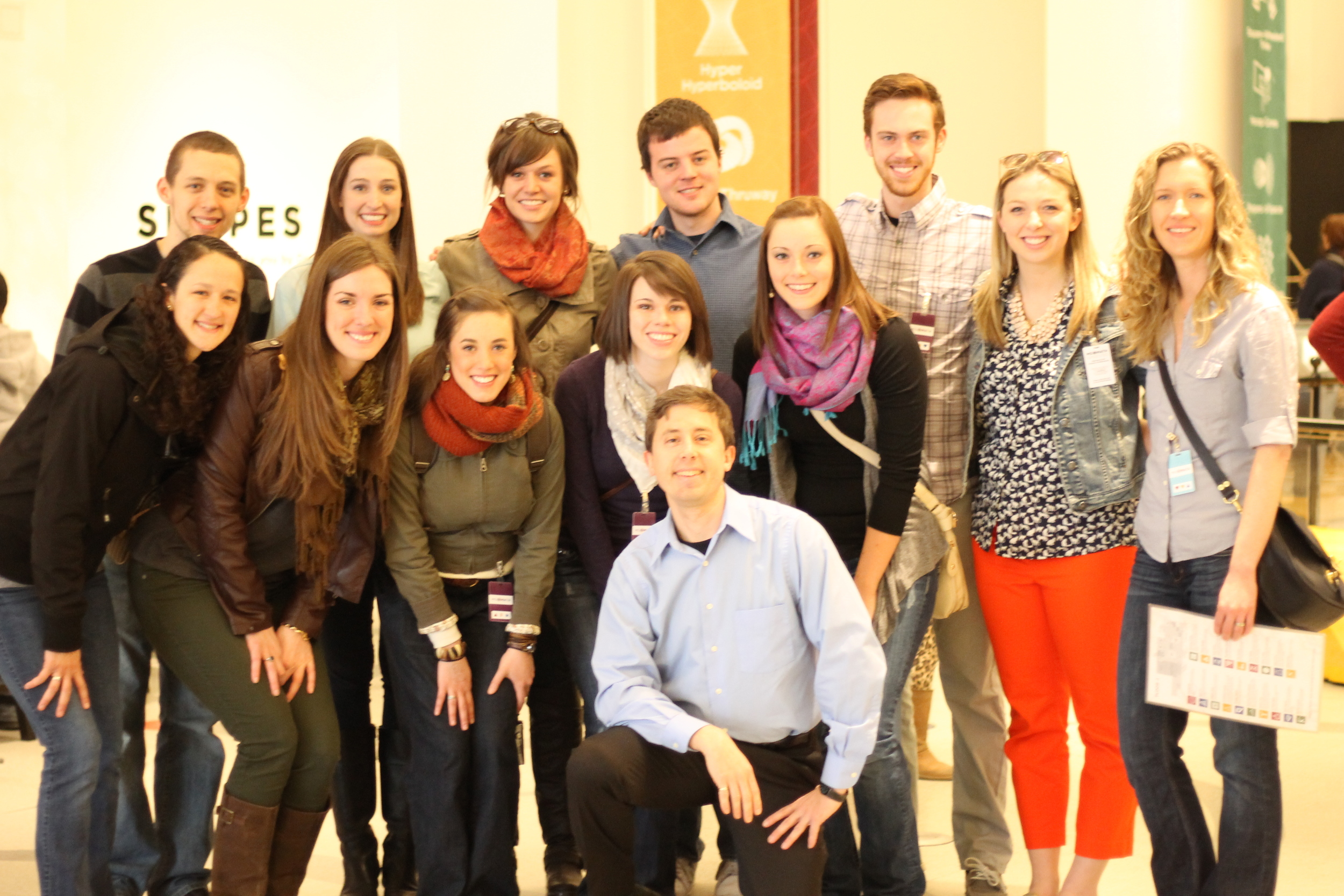 MSU secondary mathematics interns at the Museum of Mathematics in NYC, with the founder Glen Whitney
