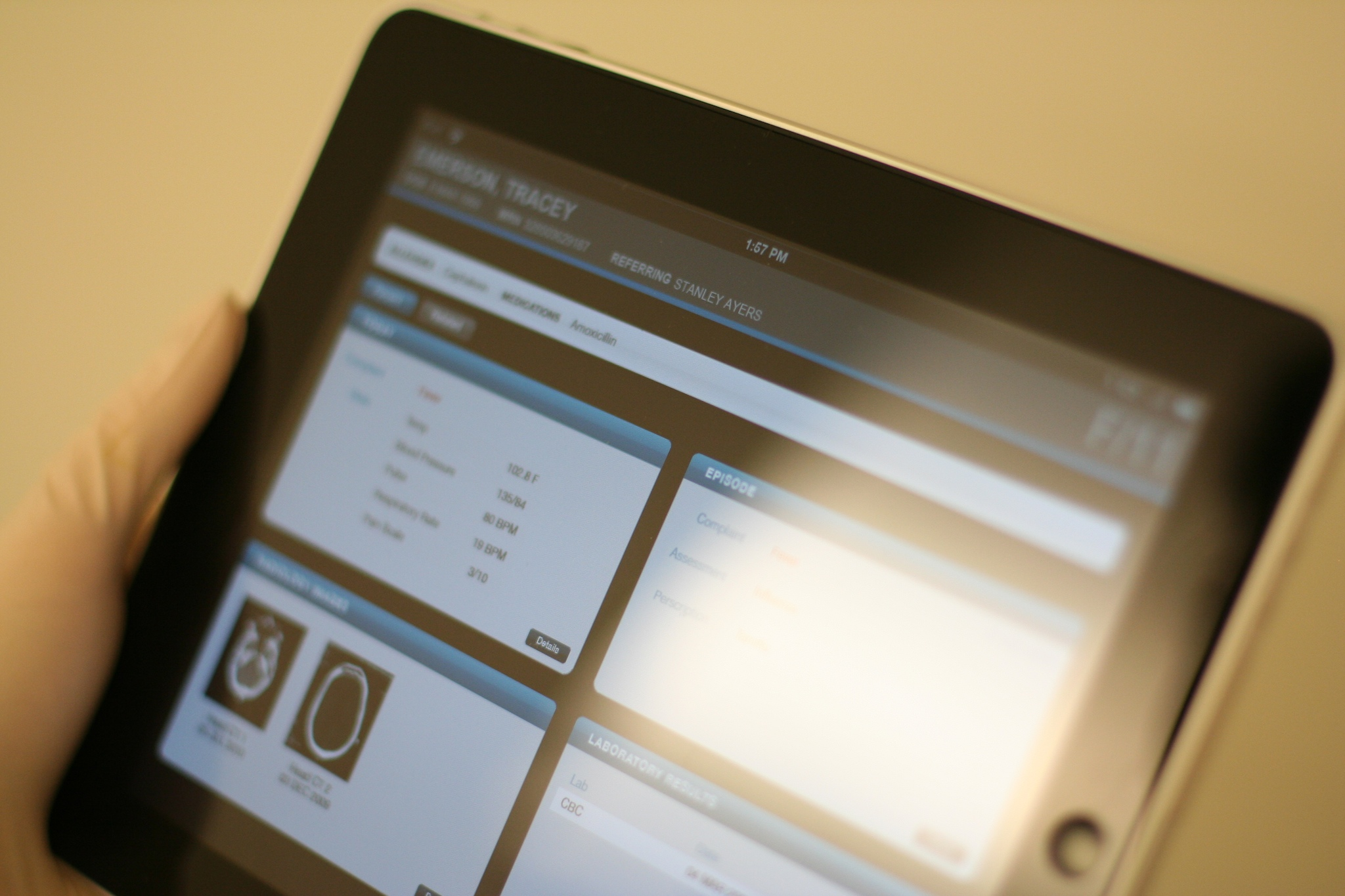Providing practitioners with a tablet version was out of the project scope however was recommended for next steps.