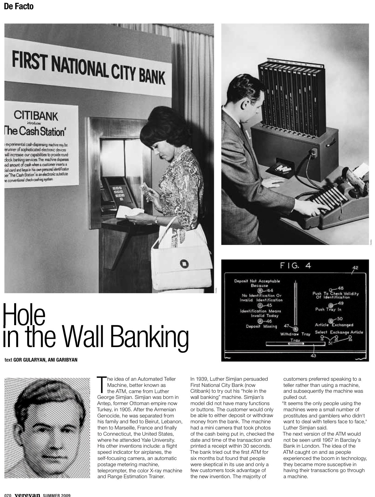 Hole in the Wall Banking   The creation of the ATM