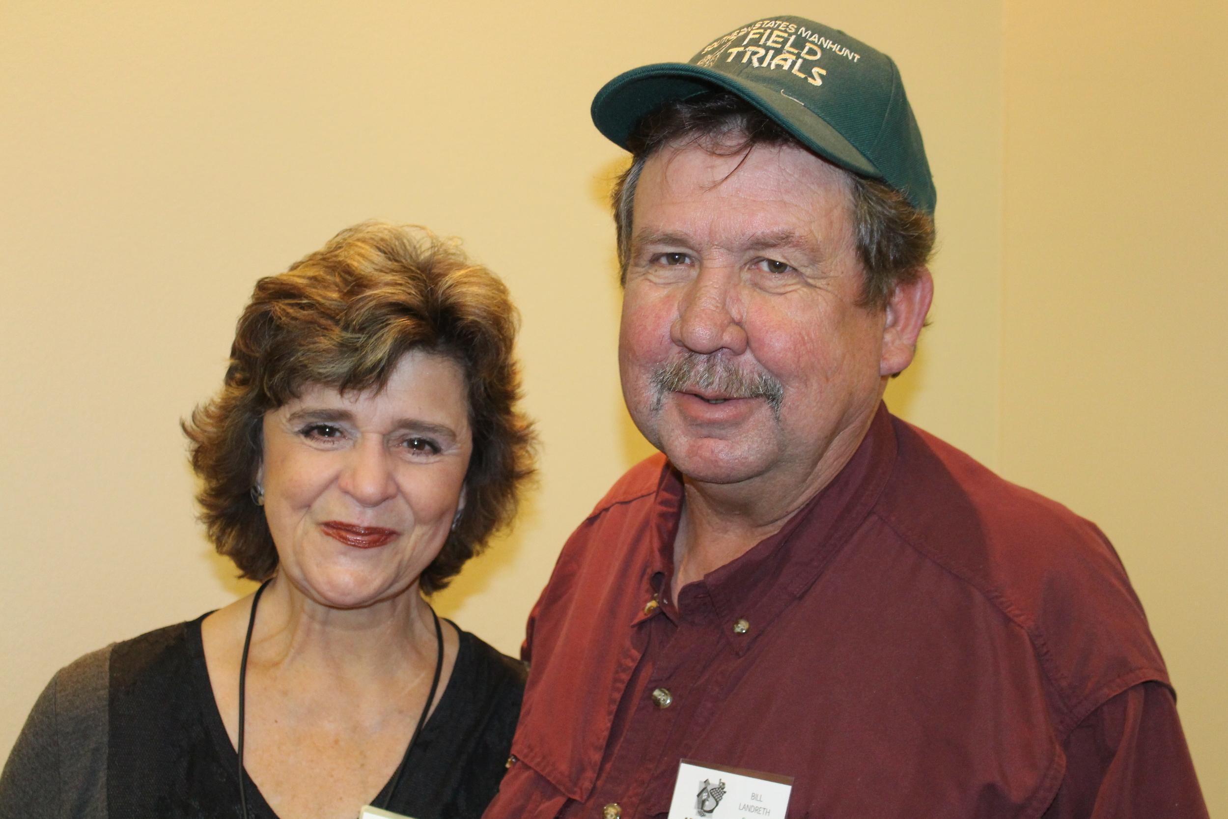 Beverly Dunaway, U of A Program Associate/MarketMaker and Bill Landreth, Owner/Farmer