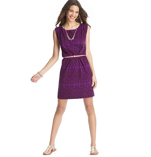 Exotic Ikat  Print  Cotton Dress     Color:Wild Berry  ORG: $49.50  SALE: $25.00  FINAL PRICE: $20.00