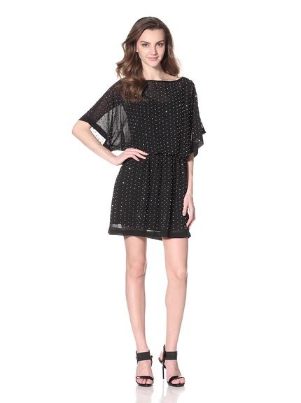 Alexia Admor Beaded Blouson Chiffon Dress  Lightweight chiffon dress with allover beading detail, elastic waist, blouson bodice with dolman sleeves  ORG $239  SALE $99