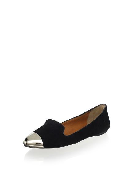 DV by Dolce Vita Lunna Flat  A silver metallic toe modernizes this classic slip-on style  ORG $79   SALE $39