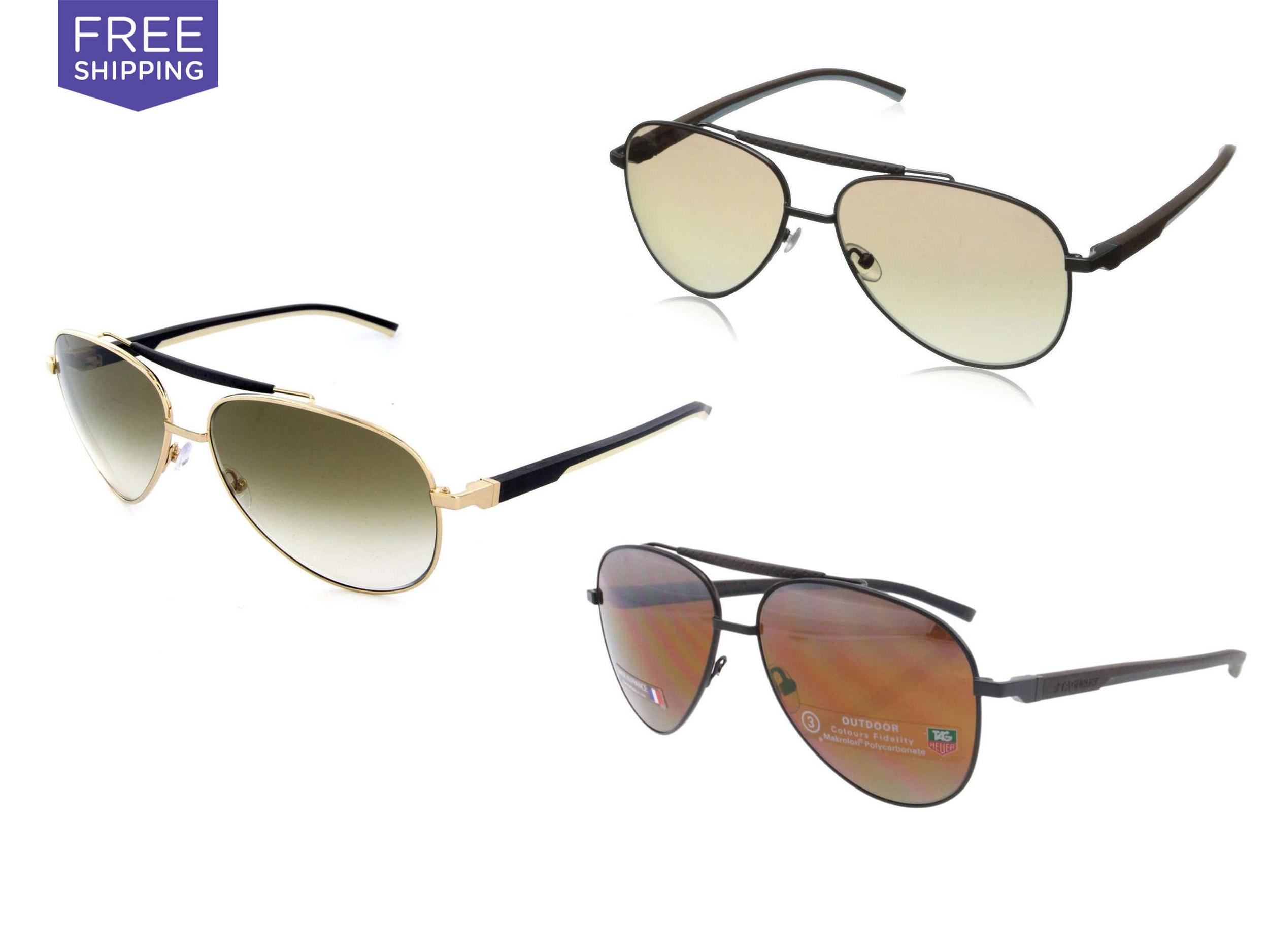 Tag Heuer Tag Heuer Men's Aviator Sunglasses, $179.99    Deal Run Date Ends: 10/6/15