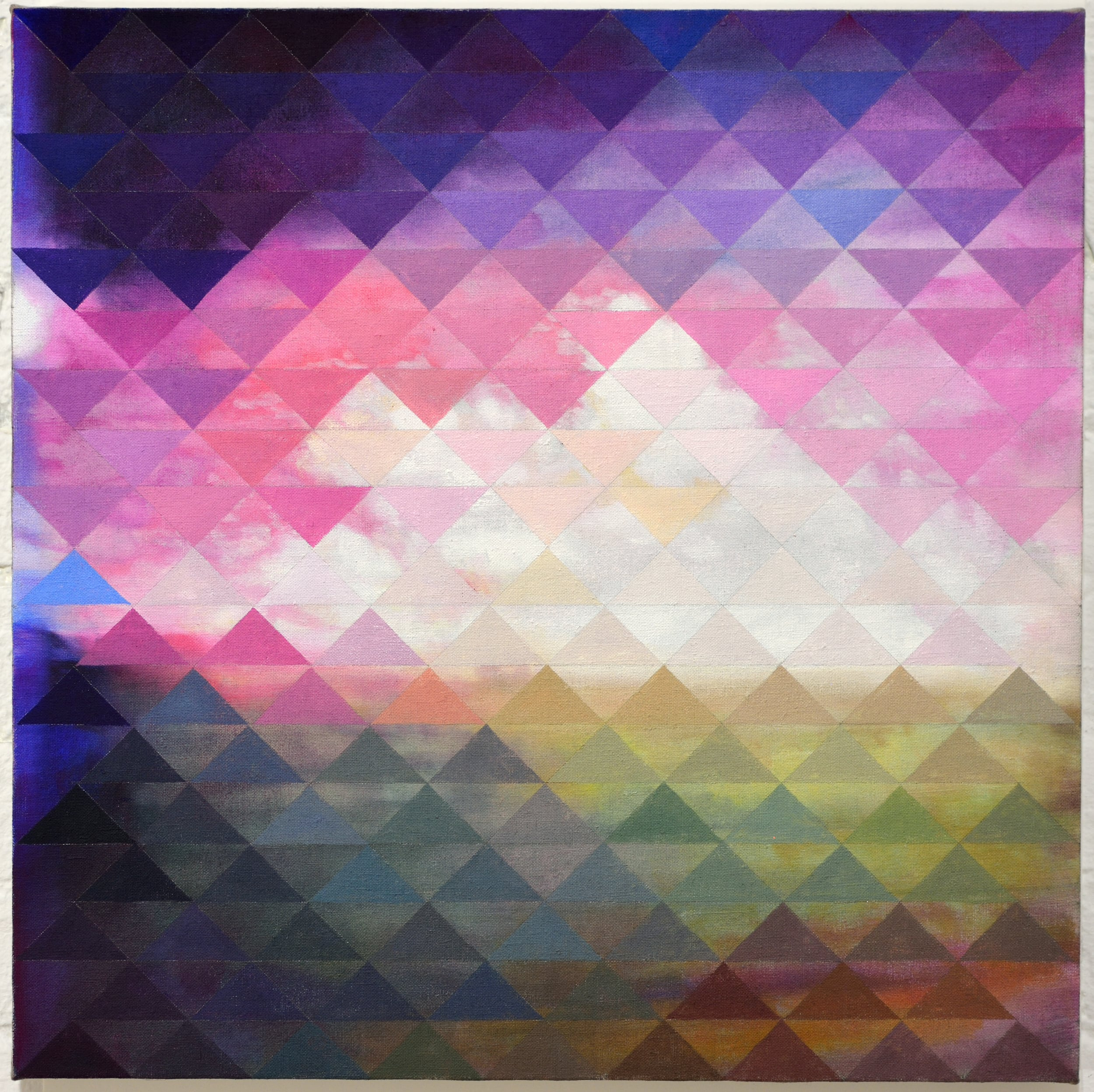 "Untitled (Veil II) 2016 oil paint on linen 18 x 18"""