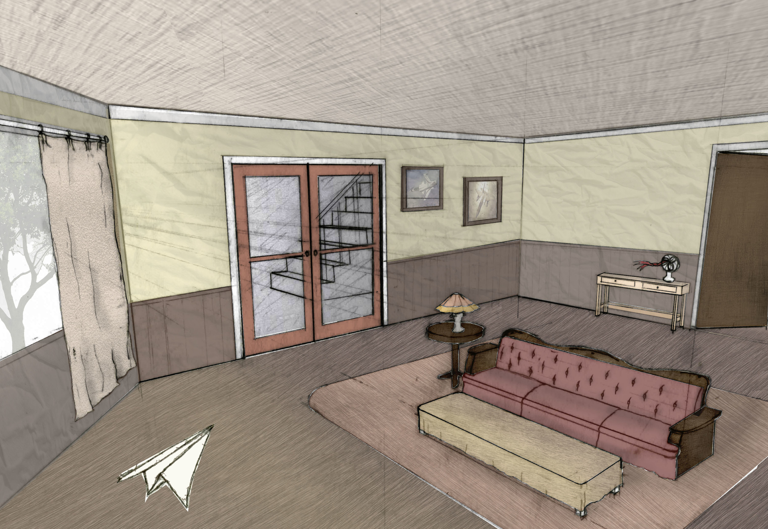 Rough Concept Art of The Living Room