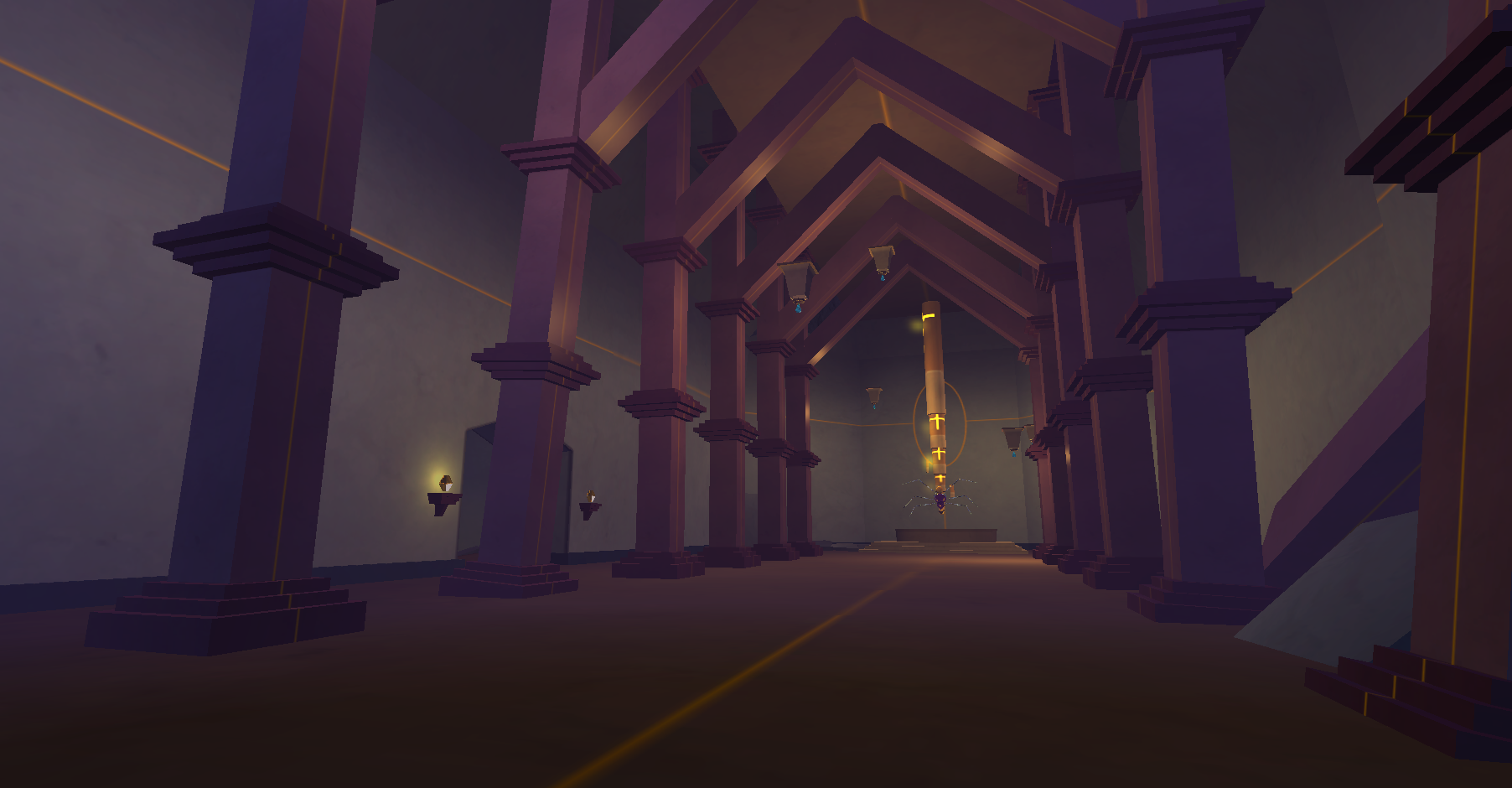 Early Temple interior design using light mapping in Unity 4