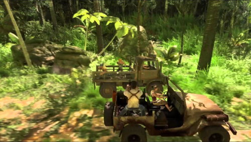 (Uncharted 1 - Some classic on the rails combat)