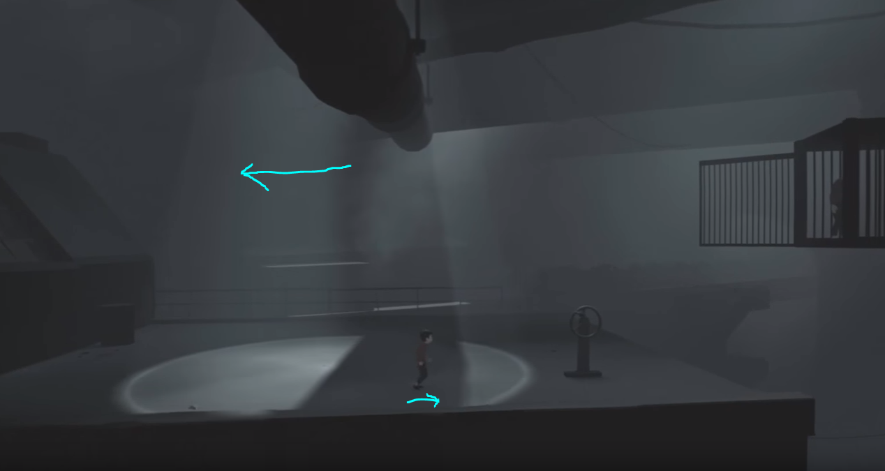(Utilizing dynamic shadows to cross to safety)