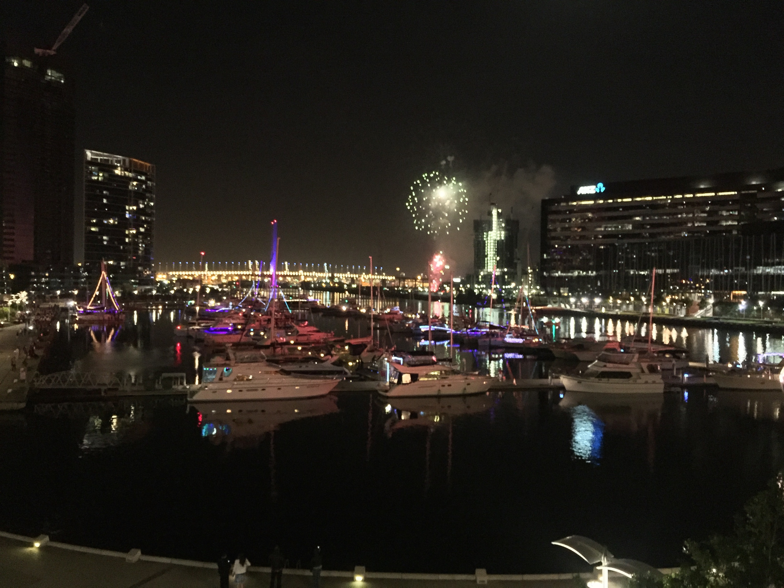 A little firework action in Docklands, Melbourne
