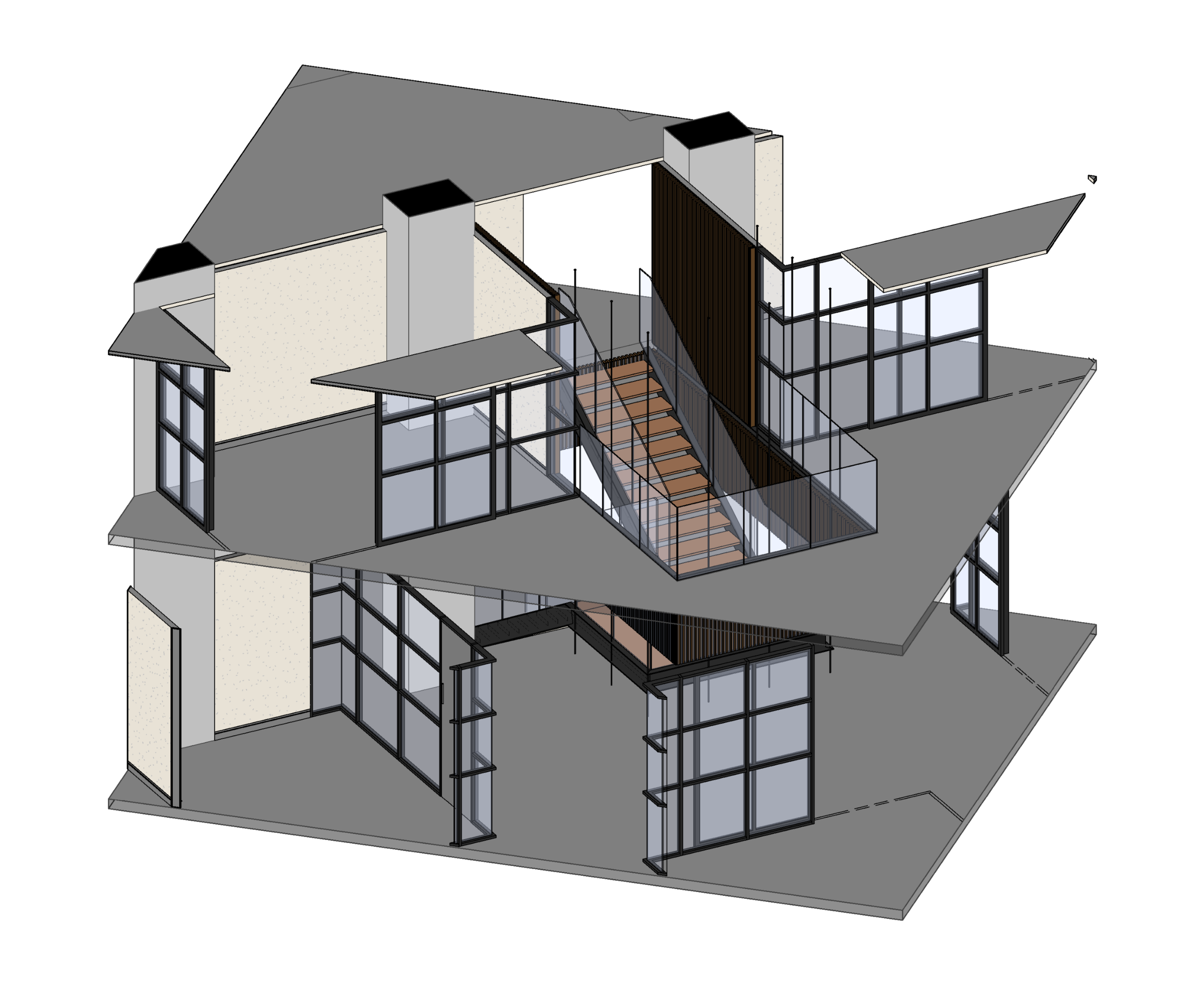 Interconnecting stair detail