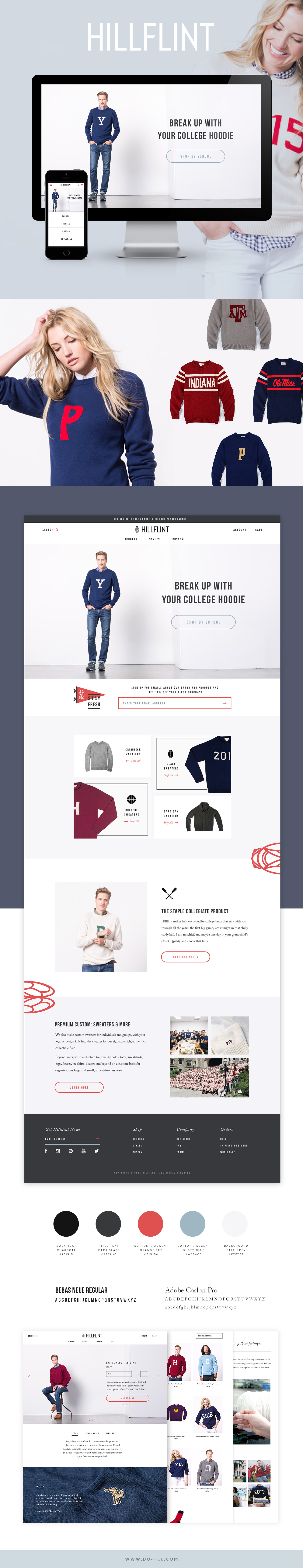 Hillflint E-commerce Website Design