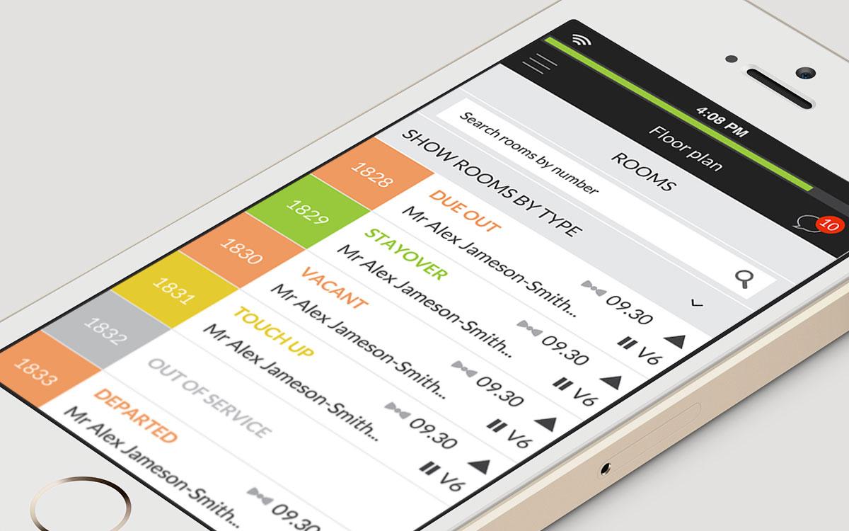 Optii Keeper – UI design for world leading hotel housekeeping management system
