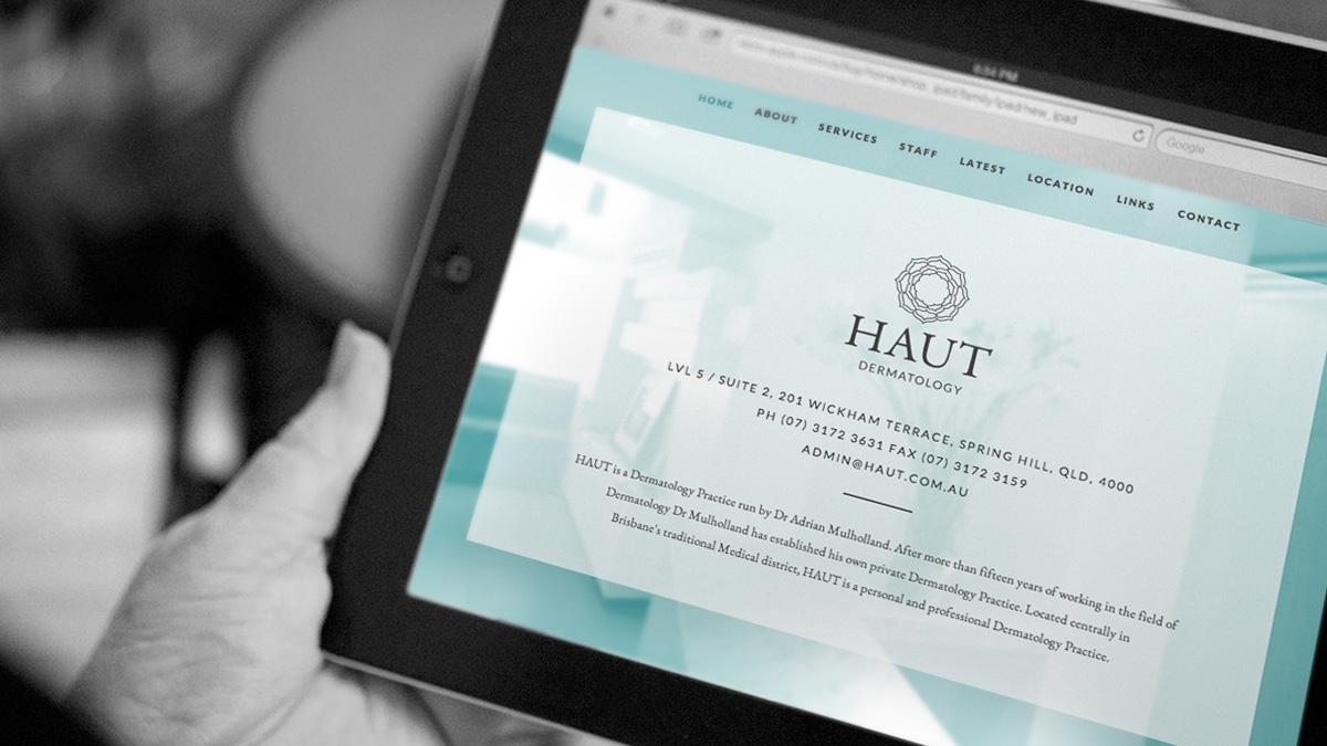 HAUT Dermatology website