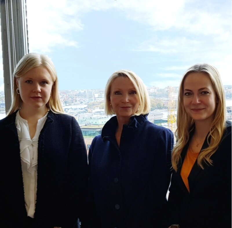 Pictured: Associate Elisabet Heimer, Partner Anna Öberg and Associate Liselotte Rios