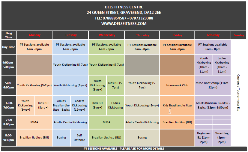 See Full Timetable