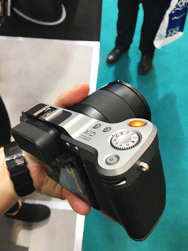 The mirrorless medium format camera by Hasselblad. The show discount on this camera was more than most cameras cost!