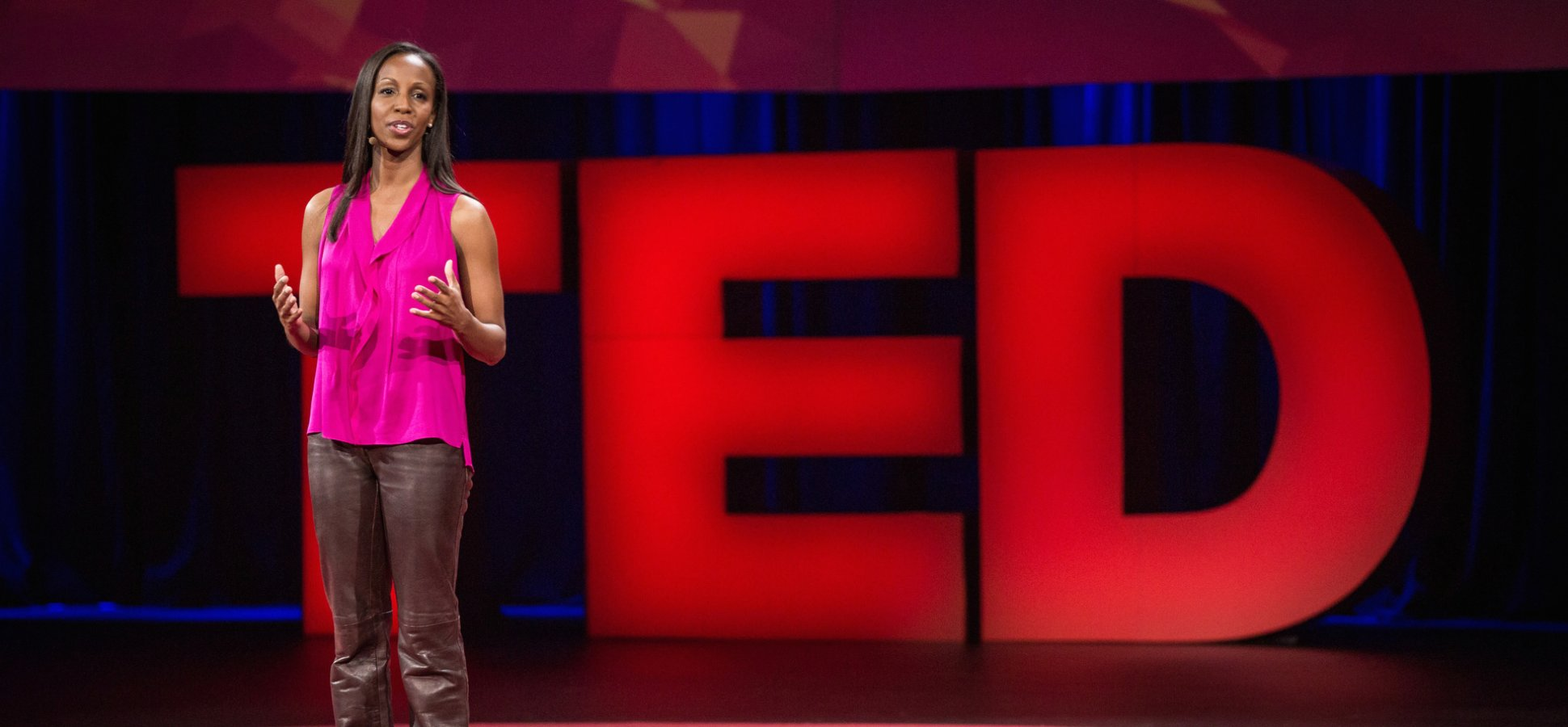 Sarah Lewis on the Ted stage in Vancouver 2015