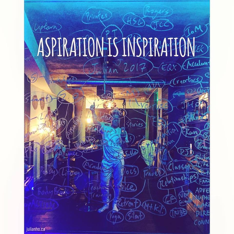 WITHOUT ASPIRATION, INSPIRATION HAS AN EXPIRATION DATE.