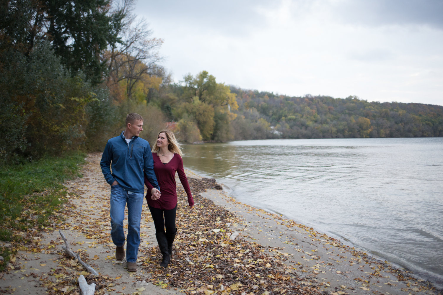 High Cliff State Park Engagement Photo
