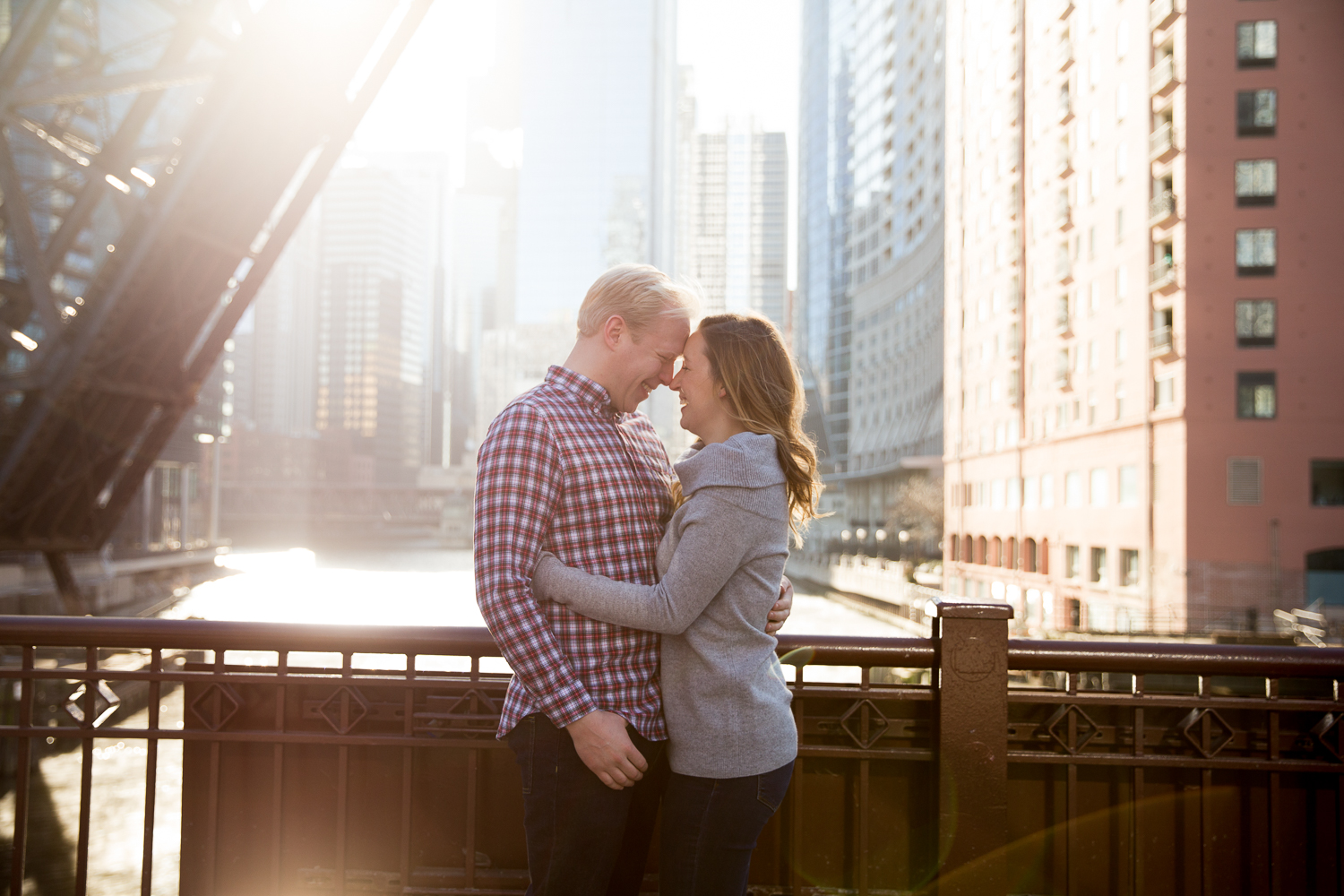 Winter Engagement Session in Chicago - Whit Meza Photography